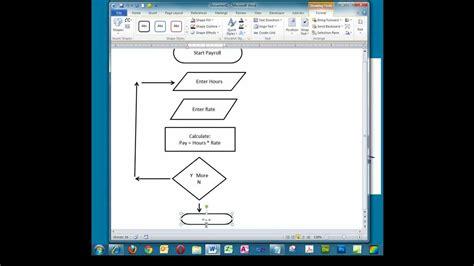 creating  simple flowchart  microsoft word youtube