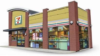 Eleven Convenience Exterior 3d Grocery 7eleven Interior
