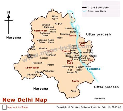 delhi map map  delhi