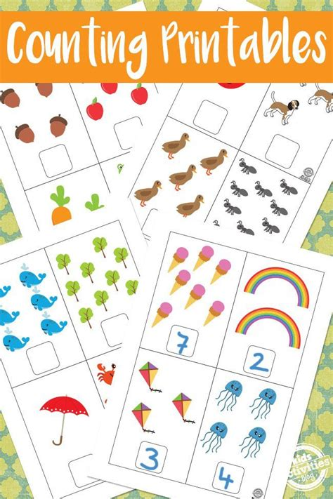 Free Math Counting Printables for Preschool Kids and ...