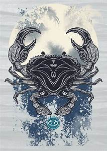 Pin de Ashley Franklin en Tattoos | Cancer horoscope, Crab ...