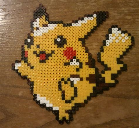Halloween Hama Bead Patterns by Pikachu Made From Pyssla Beads By Yolei S On Deviantart