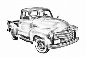 vintage 1947 chevrolet thriftmaster antique pickup truck With 1948 ford coupe red