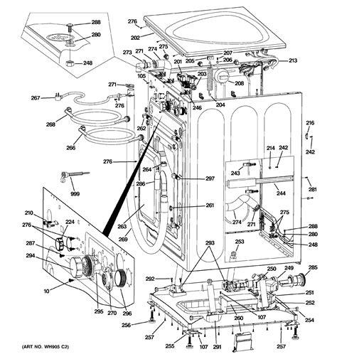 ge model wpdhjmg residential washers genuine parts