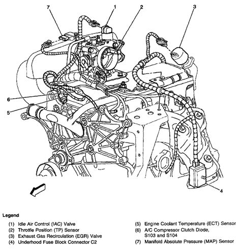 1998 Chevy S10 Vacuum Diagram 1998 chevy s10 2 2l sfi engine can t find egr valve