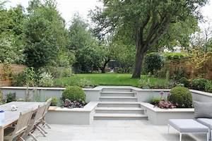 Split level backyard ideas landscape contemporary with