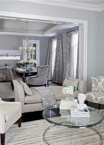 Marvelous gray living room decorating ideas decor light for Interior design living room dining room home reveal