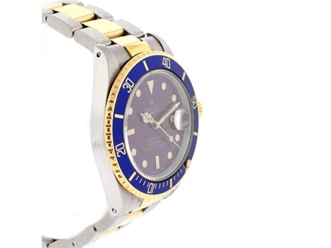 Rolex Two Tone Submariner Blue Dial Model #16803 Mens ...
