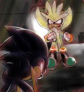Super Silver V.S. Dark Sonic - Silver the Hedgehog Photo ...