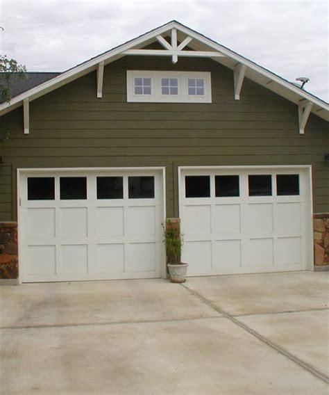 Simple Craftsman Style Garage Doors