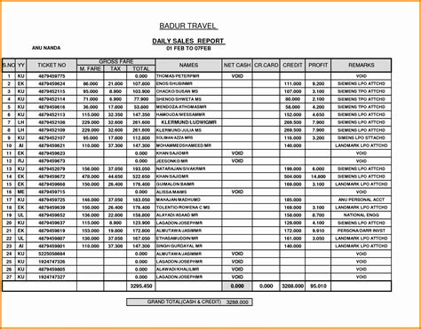 daily sales report template excel  excel