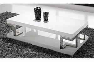 Table Basse Blanche Design : table basse laqu blanc table a manger design trendsetter ~ Preciouscoupons.com Idées de Décoration