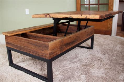 If you want to entertain guests on a regular basis, a circular or oval table encourages camaraderie, while round pieces offer easy and safe manoeuvrability for the occasional gathering. Lift top barn board coffee table | Lift up coffee table ...