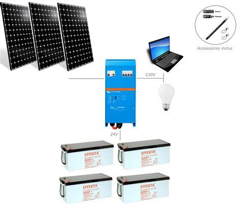 kit panneaux solaires pour chalet kit solaire 1000w 24v 230v easysolar pour site isol