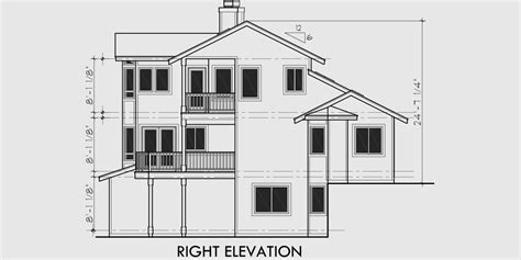 view house plans sloping lot house plans multi level house plan