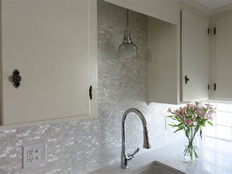 groutless marble tile backsplash white brick groutless pearl shell tile kitchen backsplash
