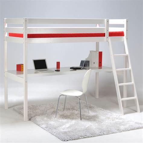 bureau lit mezzanine lit mezzanine 90x190cm bureau sommier en bois colorado