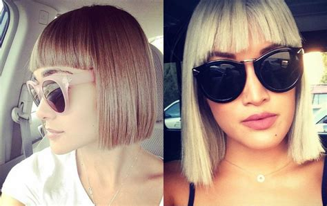classy blunt bob hairstyles  bangs hairdromecom