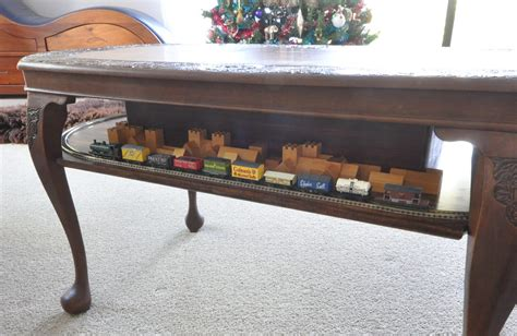 """antique"" Nscale Coffee Table Train Layout"
