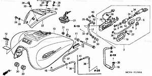 Honda Motorcycle 2003 Oem Parts Diagram For Fuel Tank
