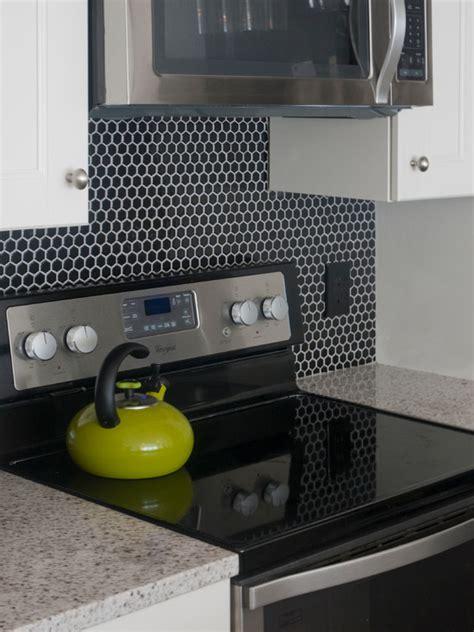 black hex tile contemporary kitchen benjamin moore