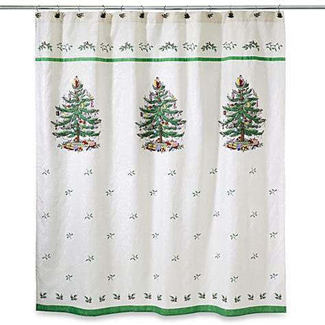 avanti linens spode christmas tree jacquard shower curtain
