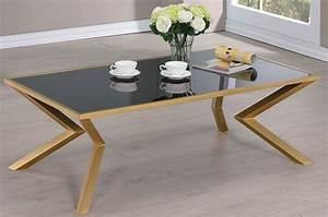 black glass and brushed brass coffee table from coaster With brushed brass coffee table