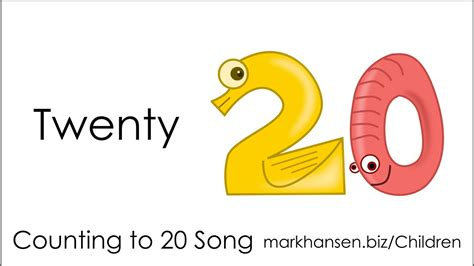 Counting Songs 1-20 For Children Numbers To Song Kids