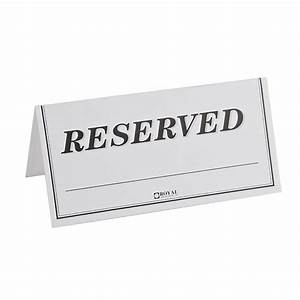 Table Tent Sign  U0026quot Reserved U0026quot  250    Pack Fast Shipping