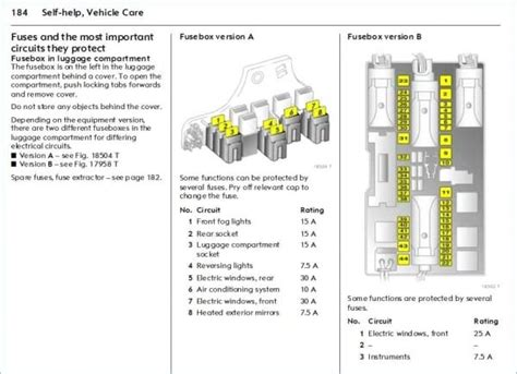 vauxhall astra fuse box layout