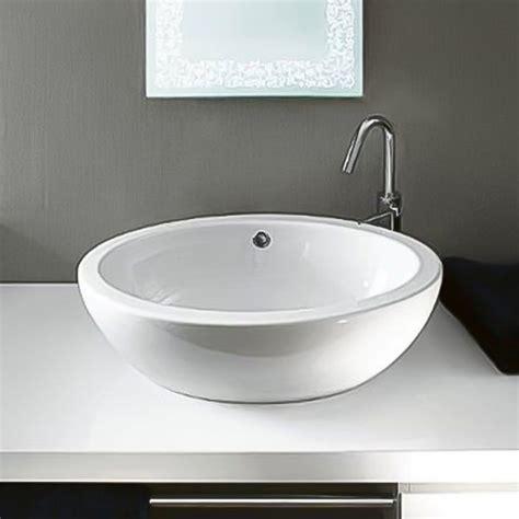 Shop Nameeks Panorama White Ceramic Vessel Oval Bathroom
