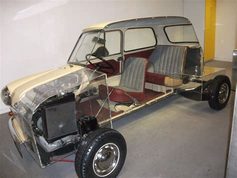 Sectioned Mini 1959 10 Foot Car Revealed The Mini's Design