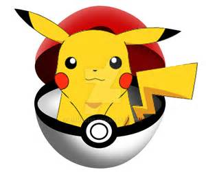 Pikachu in pokeball