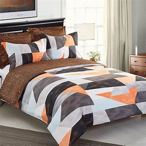 Orange, And, Grey, Bedding, Sets, With, More, U2013, Ease, Bedding, With