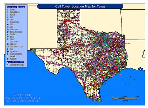 cell tower location maps   state cell tower