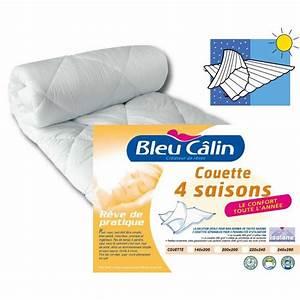 Achat Citronnier 4 Saisons : bleu calin couette microfibre 4 saisons 220x240cm achat ~ Premium-room.com Idées de Décoration