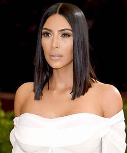Kim Kardashian Met Gala 2017 Sleek Lob | InStyle.co.uk