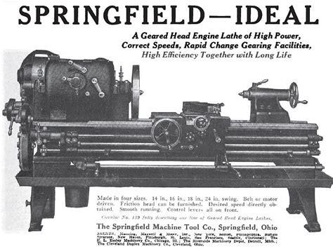 springfield machine tool   ad springfield machine
