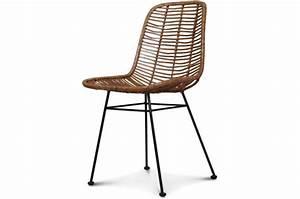 Chaise Rotin Metal : chaise style naturel rotin miel pieds m tal liata chaise ~ Teatrodelosmanantiales.com Idées de Décoration