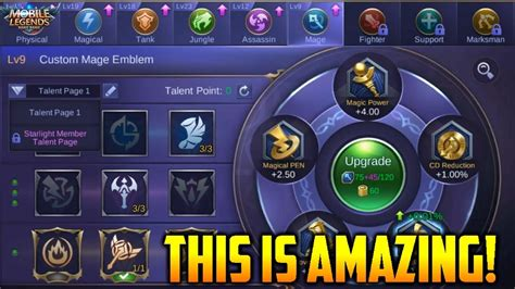 Incredible New Emblem System Explained! Mobile Legends