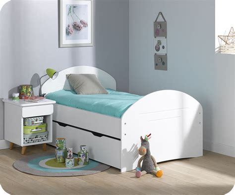chambre evolutif tiroir lit enfant evolutif spoom blanc 90x140 cm