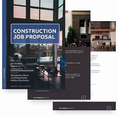 Template Job Proposal Construction Templates Sample Display