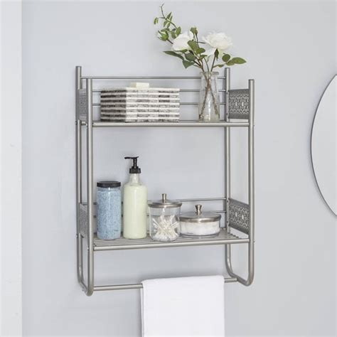shop filigree bathroom collection wall shelf overstock