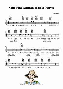 Old Macdonald Had A Farm Sheet Music With Chords And