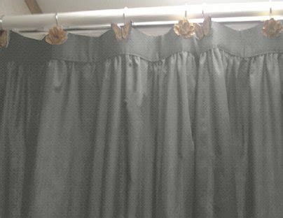Solid Medium Gray Colored Shower Curtain