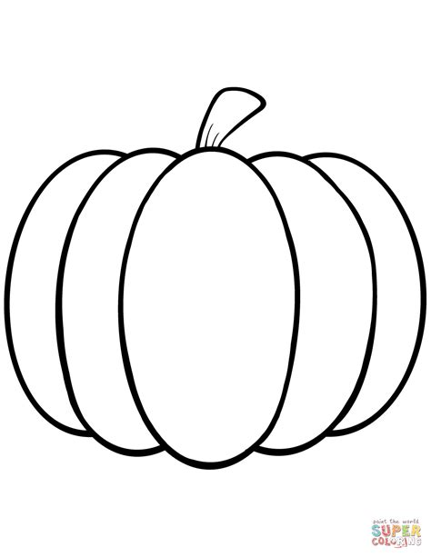 simple pumpkin coloring page  printable coloring pages