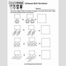 Halloween Math Worksheet  Free Kindergarten Holiday Worksheet For Kids