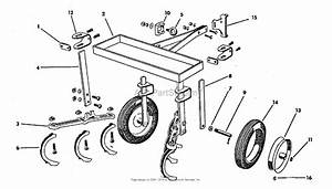 Simplicity Model B  2hp Garden Tractor Parts Diagram For Cultivator Group  3736i03