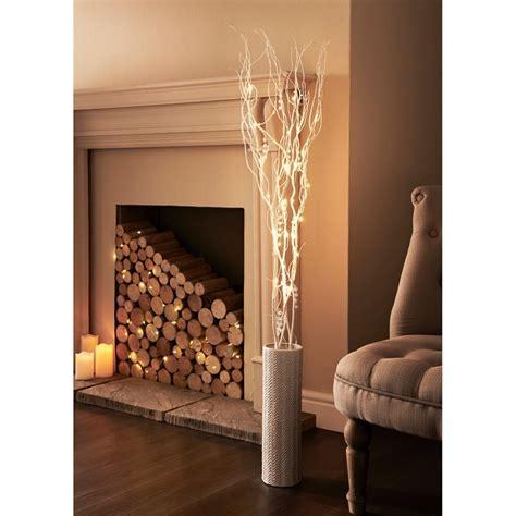 Glitter Branch LED Lights 1.2m   Home Lighting   B&M
