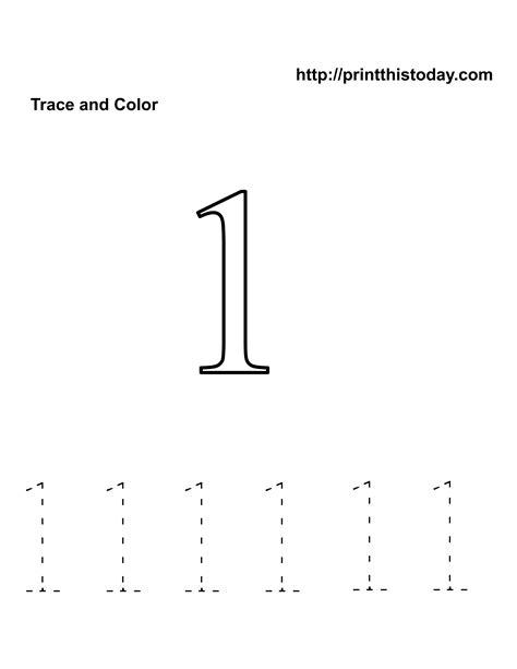 preschool number one worksheet number 1 tracing worksheets education kindergarten math